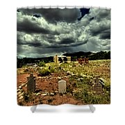 New Mexico Graveyard Shower Curtain