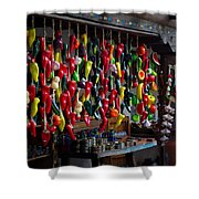 New Mexico Hanging Peppers Shower Curtain