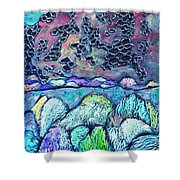 New Mexico Landscape Shower Curtain