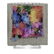 New Mexico Map Color Splatter 5 Shower Curtain