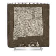 New Mexico Map Music Notes 3 Shower Curtain