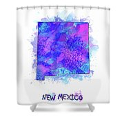 New Mexico Map Watercolor 2 Shower Curtain