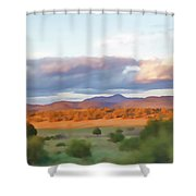 New Mexico Pastel Shower Curtain