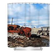 New Mexico Tractor Shower Curtain