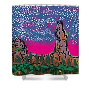 New Mexico Twilight Shower Curtain