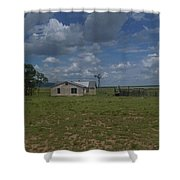 New Mexico Wind Mill Shower Curtain