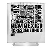 New Mexico Word Cloud Map 2 Shower Curtain