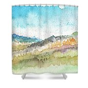 New Morning- Watercolor Art By Linda Woods Shower Curtain
