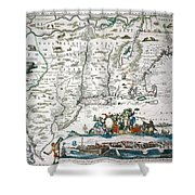 New Netherland Map Shower Curtain