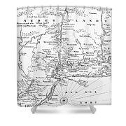 New Netherlands 1656 Shower Curtain