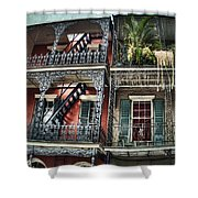 New Orleans Balconies No. 4 Shower Curtain