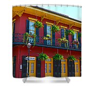 New Orleans Balcony Shower Curtain