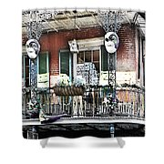 New Orlean's Balcony Shower Curtain