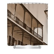 New Orleans Balcony With Lamp Shower Curtain