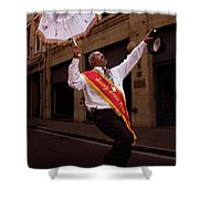 New Orleans Brass Band Leader Shower Curtain