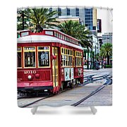 New Orleans Canal Streetcars  Shower Curtain
