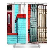 New Orleans Doorways Diptych One Shower Curtain