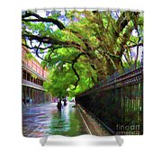 New Orleans French Quarter Paint  Shower Curtain
