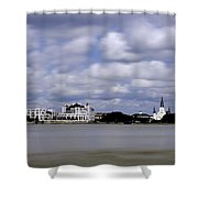 New Orleans From Algiers Point - In Color Shower Curtain