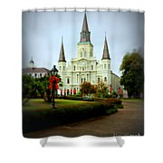 New Orleans Holiday Shower Curtain
