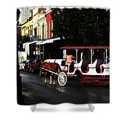 New Orleans Horse Carriage Shower Curtain