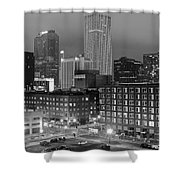New Orleans In Black And Night Shower Curtain