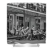 New Orleans Jazz 2 - Bw Shower Curtain