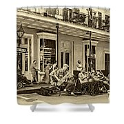 New Orleans Jazz 2 - Sepia Shower Curtain