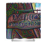 New Orleans - Lafittes Blacksmith Shop Sign Shower Curtain