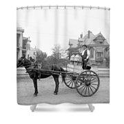 New Orleans: Milk Cart Shower Curtain