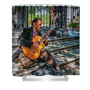 New Orleans Musician - Chris Craig Shower Curtain