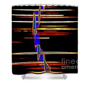 New Orleans Neon Frequency Native American Indan Abstract 3 Shower Curtain
