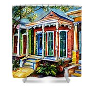 New Orleans Plain And Fancy Shower Curtain