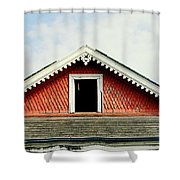 New Orleans Rooftop Architecture Fish Scales And Gingerbread Shower Curtain