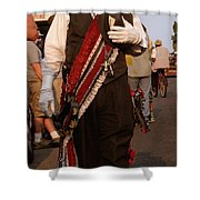 New Orleans Second Line Band Conductor Shower Curtain