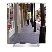New Orleans Sidewalk 2004 Shower Curtain