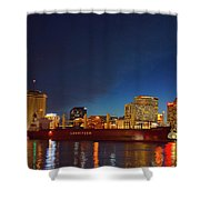 New Orleans Skyline At Night  Shower Curtain
