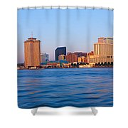 New Orleans Skyline From Algiers Point Shower Curtain