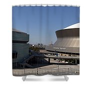 New Orleans Sports And Entertainment Complex Shower Curtain