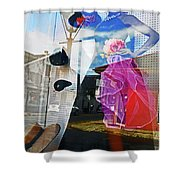 New Orleans Statues 9 Shower Curtain