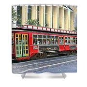 New Orleans Street Car Shower Curtain