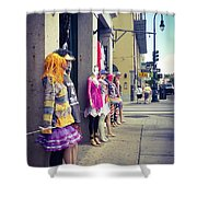 New Orleans Street Mannequins Shower Curtain