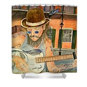 New Orleans Street Musician Shower Curtain
