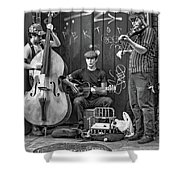 New Orleans Street Musicians Bw Shower Curtain