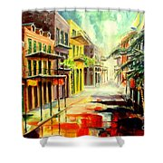 New Orleans Summer Rain Shower Curtain