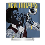 New Orleans, Trumpeter Shower Curtain
