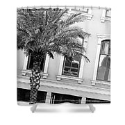 New Orleans Windows - Black And White Shower Curtain
