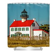 New Paint On East Point Lighthouse Shower Curtain