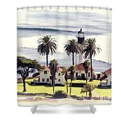 New Point Loma Lighthouse Shower Curtain