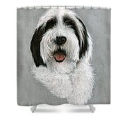 New Pup Shower Curtain